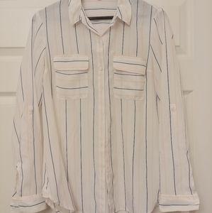 Express white button down shirt